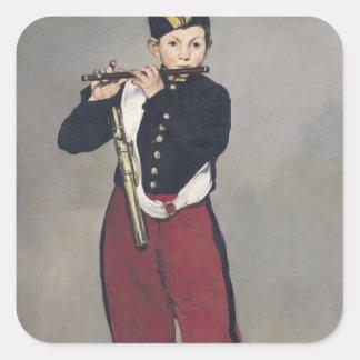 Manet | der Fifer, 1866 Quadratischer Aufkleber