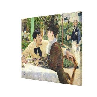 Manet | der Garten von Pere Lathuille, 1879 Leinwanddruck