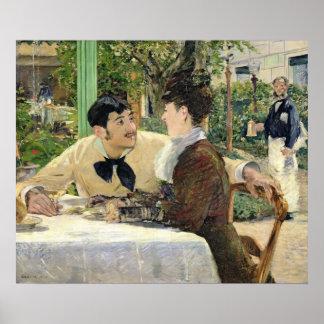 Manet | der Garten von Pere Lathuille, 1879 Poster