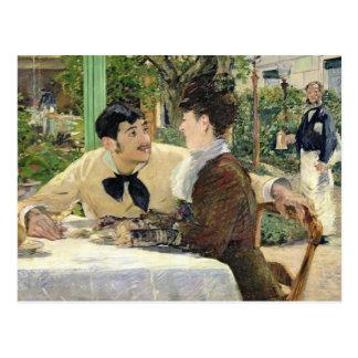 Manet   der Garten von Pere Lathuille, 1879 Postkarte