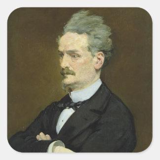 Manet | der Journalist Henri Rochefort, 1881 Quadratischer Aufkleber