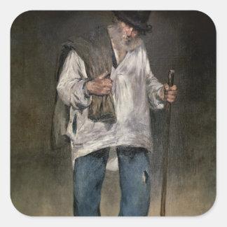 Manet | der Ragman, 1869 Quadratischer Aufkleber