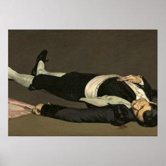 Manet | der tote Toreador, c.1864 Poster