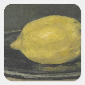Manet | die Zitrone, 1880 Quadratischer Aufkleber
