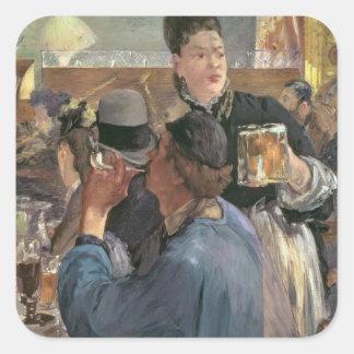 Manet | Ecke eines Café-Konzerts, 1878-80 Quadratischer Aufkleber