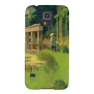 Manet   in einem Park Samsung S5 Cover