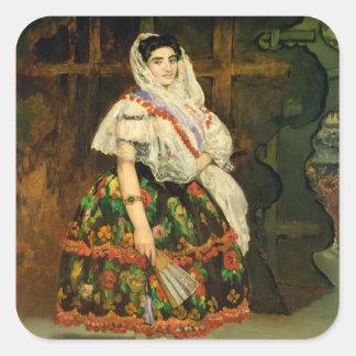 Manet | Lola de Valence, 1862 Quadratischer Aufkleber