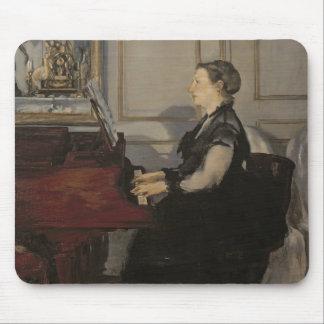 Manet   Madame Manet am Klavier, 1868 Mauspads
