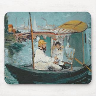 Manet | Monet in seinem sich hin- und Mousepad