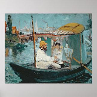 Manet   Monet in seinem sich hin- und Poster