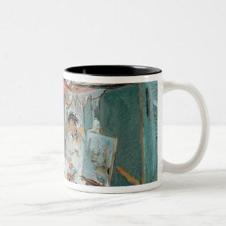 Manet | Monet in seinem sich hin- und Zweifarbige Tasse