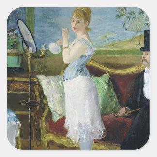 Manet | Nana, 1877 Quadratischer Aufkleber