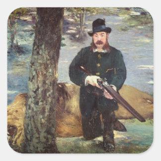 Manet | Pertuiset, Löwe-Jäger, 1881 Quadratischer Aufkleber