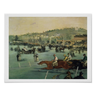 Manet | Pferderennen, 1872 Poster