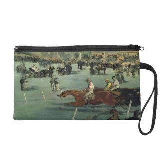 Manet | Pferderennen, 1872 Wristlet Handtasche