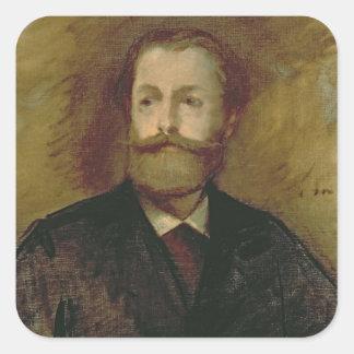 Manet | Porträt von Antonin Proust c.1877-80 Quadratischer Aufkleber