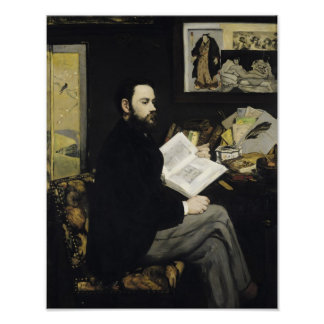 Manet | Porträt von Emile Zola 1868 Poster