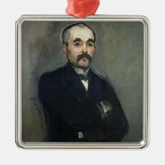 Manet | Porträt von Georges Clemenceau, 1879 Silbernes Ornament