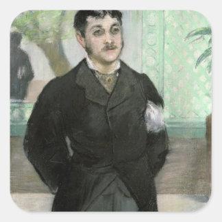 Manet | Porträt von M. Gauthier-Lathuille Quadratischer Aufkleber