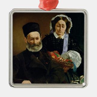 Manet | Porträt von M und von Frau Auguste Manet Silbernes Ornament