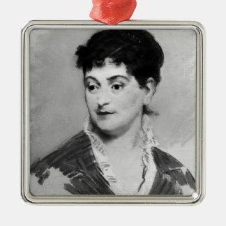 Manet   Porträt von Madame Emile Zola, 1874 Silbernes Ornament