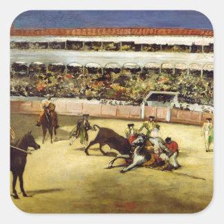 Manet | Stier Kampf, 1865 Quadratischer Aufkleber