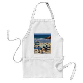 Manfred das Manatis am Strand Schürze