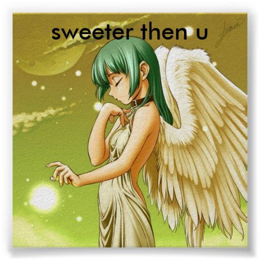 manga Engel süßeres dann u Poster