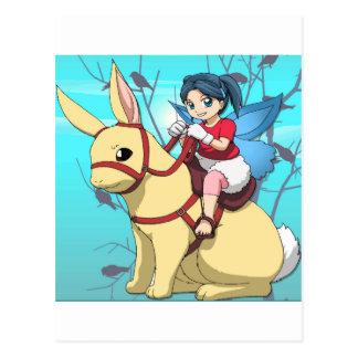 Manga faries postkarte