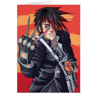 Manga Künstler Grußkarte