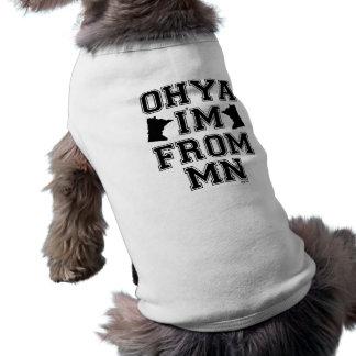 Mangan-Akzent-Hundeshirt Shirt