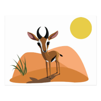 Mango die Gazelle Postkarte