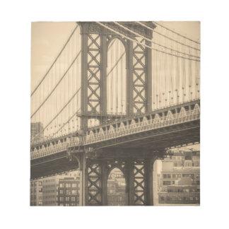 Manhattan-Brücke Notizblock