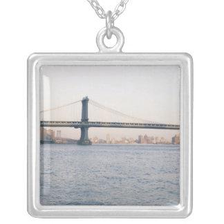 Manhattan-Brücke Versilberte Kette