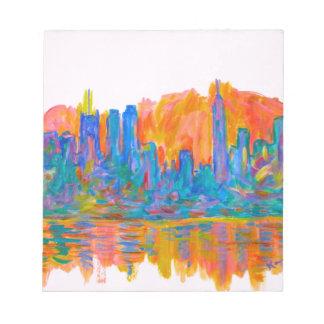 Manhattan-Farbwelle Notizblock