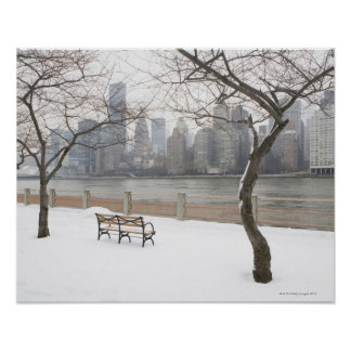 Manhattan im Winter Poster