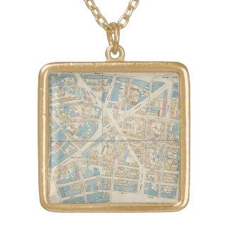 Manhattan-Karte Vergoldete Kette