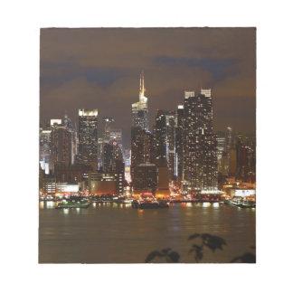 Manhattan-NachtSkyline Notizblock