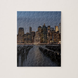 Manhattan New York nachts Puzzle