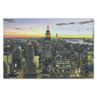 Manhattan New York nachts Seidenpapier