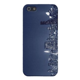 Manhattan-Skyline an den Nachtlichtern, NYC iPhone 5 Case