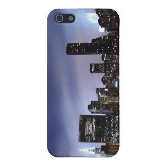 Manhattan-Skyline an den Nachtlichtern, NYC iPhone 5 Hülle