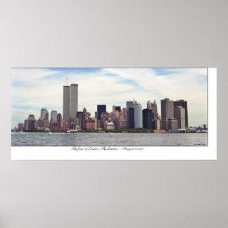 Manhattan-Skyline Poster