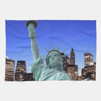 Manhattan-Skyline und das Freiheitsstatue Handtuch