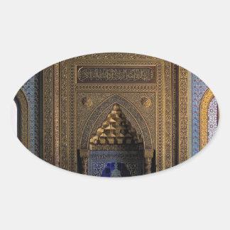 Manial Palast-Moschee Kairo Ovaler Aufkleber