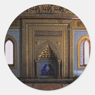 Manial Palast-Moschee Kairo Runder Aufkleber