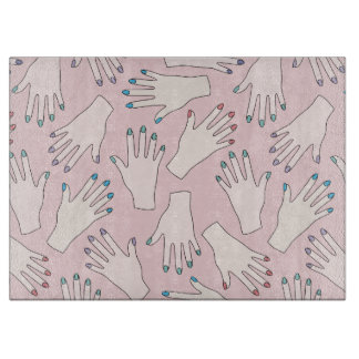 Manicured Handnagel-Studio-Rosa-Pastell-Muster Schneidebrett