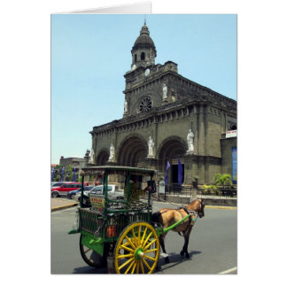 Manila-Kathedralenpferd Karte