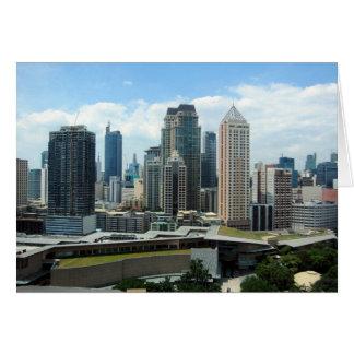 Manila-Skylineansicht Karte
