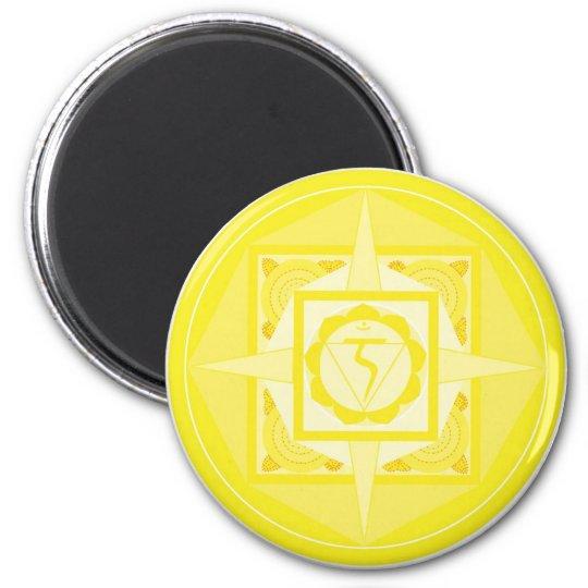 Manipura Chakra Mandala (Solarplexus Chakra) Runder Magnet 5,1 Cm